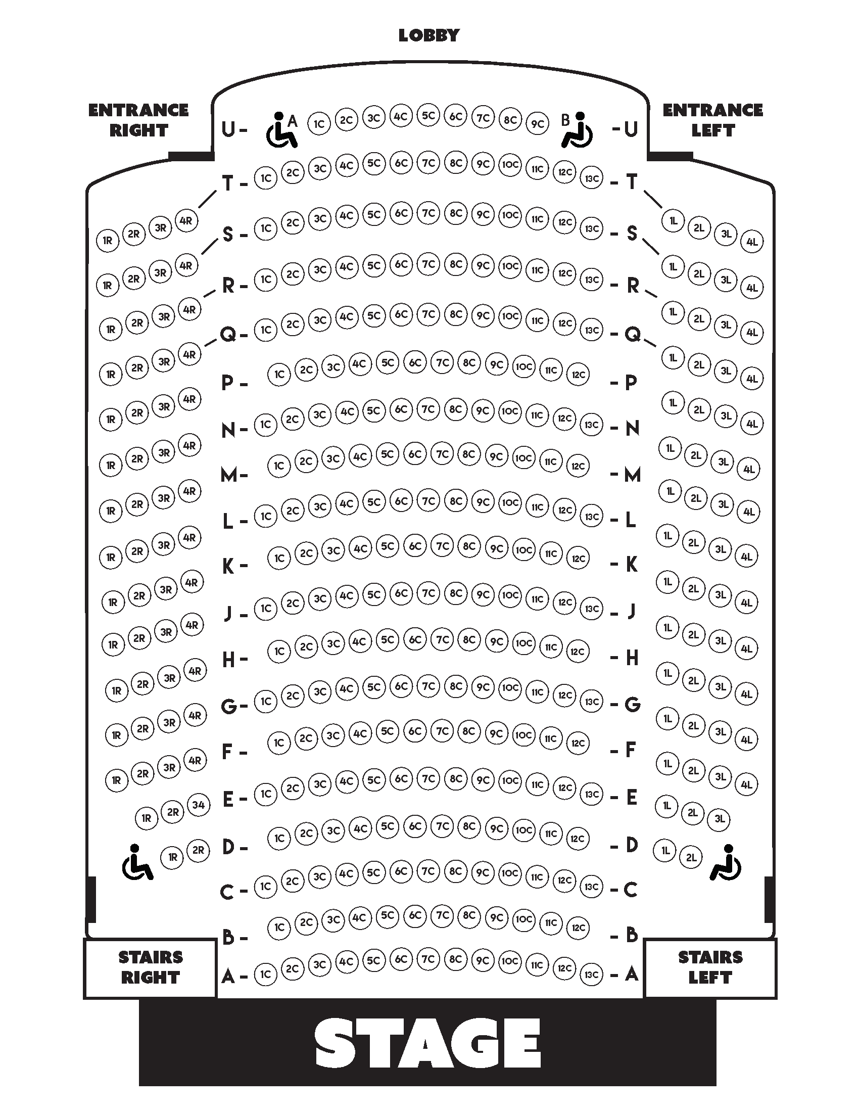 OFFICIAL SEATING CHART
